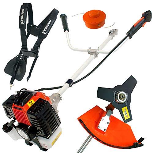 Nemaxx MT22 2in1 Benzin Gartengerät Motorsense - leistungsstarkes Multitool mit 52ccm, 3 PS, Zweitaktmotor - Aufsätze für Rasentrimmer und Freischneider - TÜV geprüfte Qualitätsware
