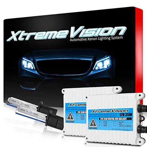 Xtremevision 35W AC Xenon HID Lights with Premium Slim AC Ballast - H1 6000K - 6K Light Blue - 2 Year Warranty