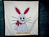 Decke Kinderdecke Babydecke Blaues Kaninchen