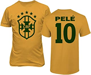 Tcamp Soccer Legends #10 Pele Jersey Style Men's T-Shirt