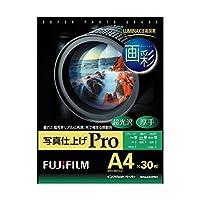 (まとめ) 富士フィルム FUJI 画彩 写真仕上げPro 超光沢 厚手 A4 WPA430PRO 1冊(30枚) 【×2セット】