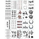 30 hojas de tatuajes temporales a prueba de agua, tatuaje adhesivo para el cuerpo, mano, cuello, muñeca, brazo para niños, adultos, mujeres, hombres. (N)