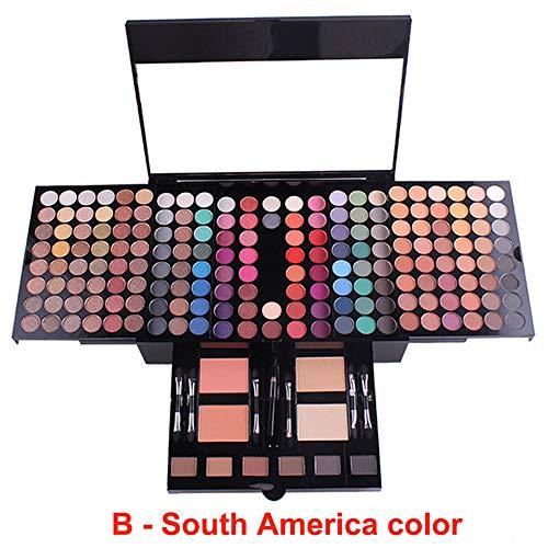 Oogschaduwpalet - 180 kleuren oogschaduw matte blush waterdichte oogschaduwdoos,South America color