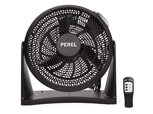 Praktischer Ventilator mit Fernbedienung und Timer als Tischlüfter oder Wandventilator nutzbar 3 Leistungsstufen Ø 30cm Schwarz
