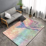 Bedroom Living Room Kitchen Extra Large Kitchen Rugs Home Decor - Magic Tail Glitter Pink Mermaid Floor Mat Doormats Fast Dry Toilet Bath Rug Yoga Mat Throw Rugs Runner