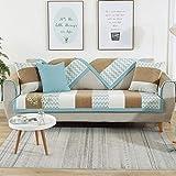 YUTJK Cojín del sofá del Telar jacquar de la felpilla, Funda de sofá de Esquina, Fundas de Asiento de sofá de Tela para Sala de Estar, Funda Protectora de Muebles, para salón, marrón
