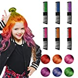 Hair Chalk, 6 Color Hair Chalk Comb Set Non-toxic Washable Temporary Hair Dye for Kids Women Best Birthday Christmas...