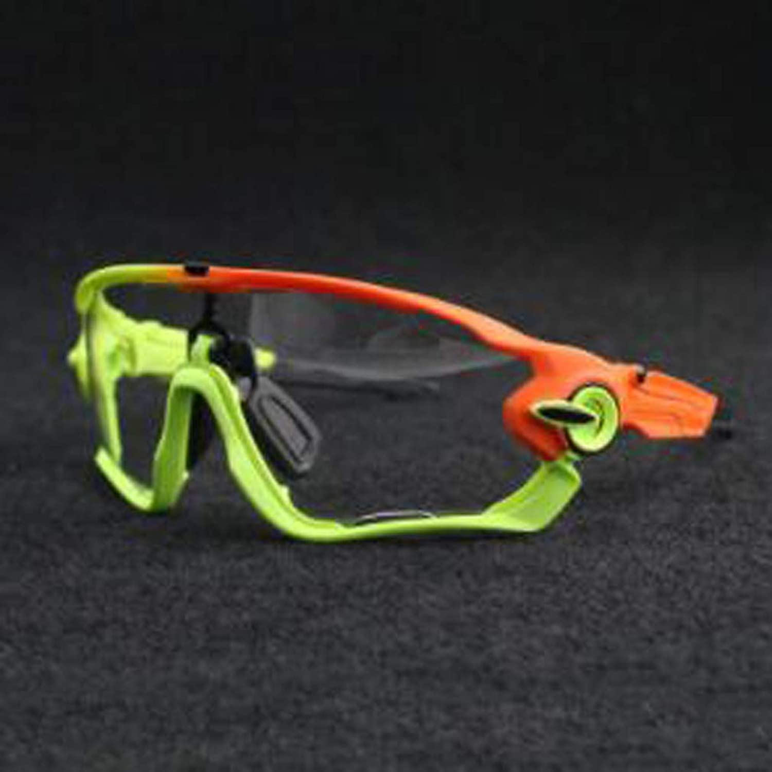 Mountain Bike Discoloration Windproof Goggles, PC Explosion-Proof Lens for Riding Hiking Hiking Fishing Skiing