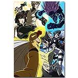 Puzzle 1000 Piezas Anime One Punch Hero Pintura Patrón Decorativo Puzzle 1000 Piezas Adultos Rompecabezas de Juguete de descompresión intelectual50x75cm(20x30inch)
