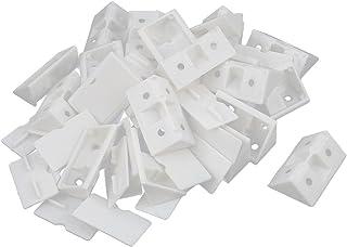 Sourcingmap–® Asamblea Muebles Corner Brace Ángulo soporte de plástico blanco 24piezas