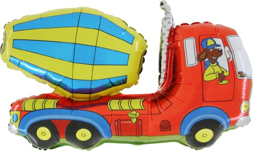 BALLOONSHOP Camion concreto di 36 Pollici / betoniera Lamina a Forma di Palloncino (CS143) [Toy]