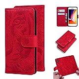 LODROC Coque iPhone 8 Plus/7 Plus Coque,Housse en Cuir Premium Flip Case Portefeuille Etui avec Stand Support et Carte Slot pour Apple iPhone 8Plus/7Plus - LOTX0200027 Rouge