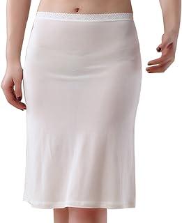 WINYU Sottogonna sottogonna da donna in seta elasticizzata lunghezza 19 cm