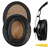 Geekria QuickFit Protein Leather Replacement Ear Pads for Sennheiser Momentum 2.0 Over-Ear Headphones Earpads, Headset Ear Cushion Repair Parts (Black)