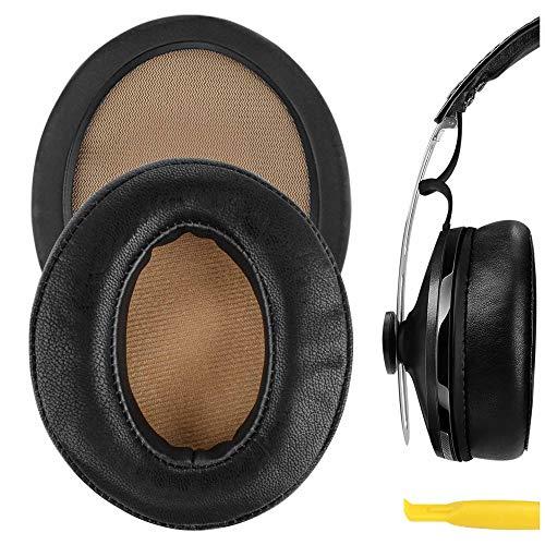 Geekria イヤーパッド QuickFit 互換性 パッド Sennheisers Momentum 2.0 Over-Ear ヘッドホンに対応 パッド イヤークッション/イヤーカップ (プロテインレザー/ブラック)