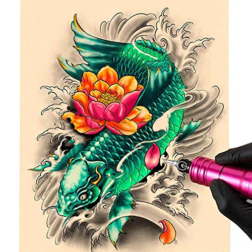 10 piezas de simulación de tatuaje piel piel de silicona 27 * 15 CM práctica principiante suministros de tatuaje