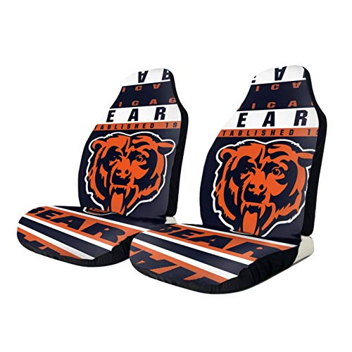 Stockdale Chicago Bears Car Seat Covers 2pcs, Universal Covers Suitable for Most Car Truck SUV or Van,Easy Install 20.5 x 54.5inch New Hampshire