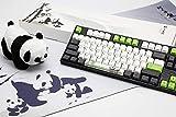 Varmilo Gaming 87 Key Cherry Blue Mx Switches Panda Three-Color PBT Keycaps Dye Sublimation Printing White LED Lights Mechanical Gaming Keyboard VA87M
