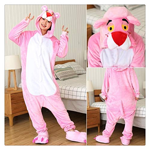 YUNGYE Frauen-Pyjamas Sets Erwachsene Niedliche Cartoon-Tier-Pyjamas Unisex Kind-Winter-Panda-Pyjamas Nachtwäsche Homewear Nachtwäsche (Color : Pink Panther, Size : 10T)