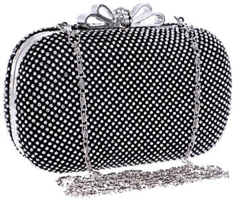 W&P Women Elegant Highgrade Bowknot Diamonds Evening Bag