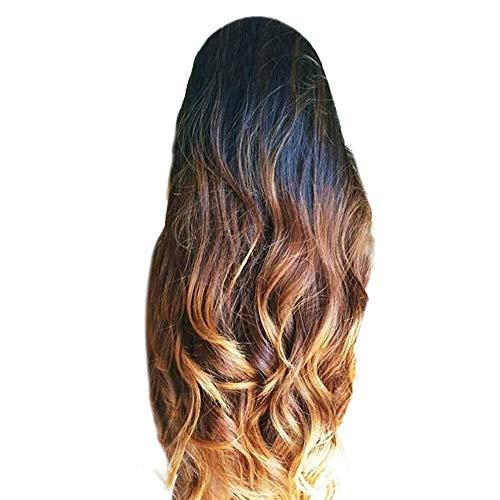 URSING Perruques synthétiques sexy de dégradé de cheveux perruques blondes à longs cheveux bouclés Dégradé Cheveux longs et bouclés Perruque