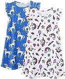 ModaIOO Camisón para niñas, camisón, pijama, camisón, pijama, vestido - blanco - 7-8 años