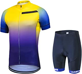 Men's Cycling Jersey Set MTB Bike Clothing Mountain Road Bicycle Shirts Shorts with 3D Padded Outdoor Riding Sportswear