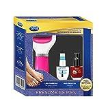 Scholl Lima Electrónica de Pies Rosa y 2 Pintauñas de Color Rojo y Transparente - Pack Regalo