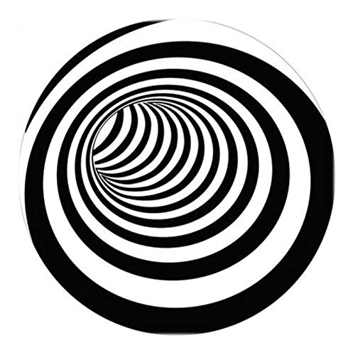 Grillmatte Bodenschutzmatte 3D-Flächenteppich Bodenmatte Runder Teppich 3D-Matte Teppich Swirl Print Optische Täuschung Bodenpolster Optische Täuschungen Rutschfester Teppich Für Wohn(Size:80cm/31in)
