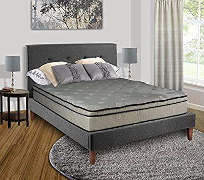 Spring Coil Victoria Collection Continental Orthopedic Mattress with Cozy Teddy Bear Fabric, King