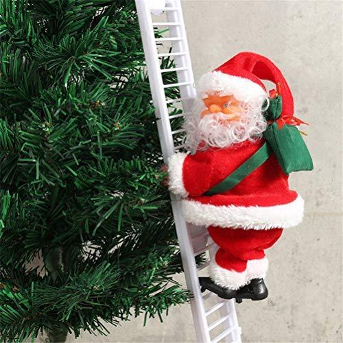 ASOSMOS Elektrische kletternde Leiter Weihnachtsmann Santa Claus Christmas Figurine Ornament Decoration Gifts