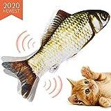 猫用ぬいぐるみ 魚おもちゃ USB充電式 Vorally またたびおもちゃ 猫おもちゃ 電動魚 またたびトイ 肥満解消 ストレス解消 爪磨き 噛むおもちゃ キャットニップ付き(草鯉)