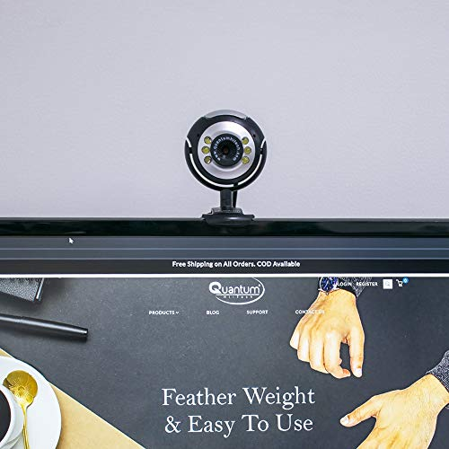 Quantum QHM495LM 6 Light Webcam For Laptop/Desktop (Black)