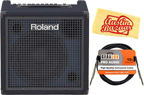 Purchase Roland KC-400 4-channel Stereo Mixing Keyboard Amplifier - 150W Bundle with Instrument Cabl...