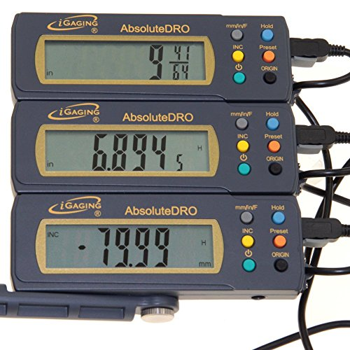 """iGaging 12"""" Absolute Digital Readout DRO Stainless Steel Super High Accuracy w/Remote Reading"""
