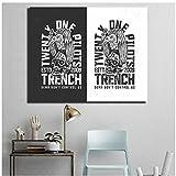 Twenty One Pilots Canvas Posters Impresiones Arte de la pared Pintura Imagen decorativa para la sala de estar Decoración para el hogar HD -50x60cm Sin marco