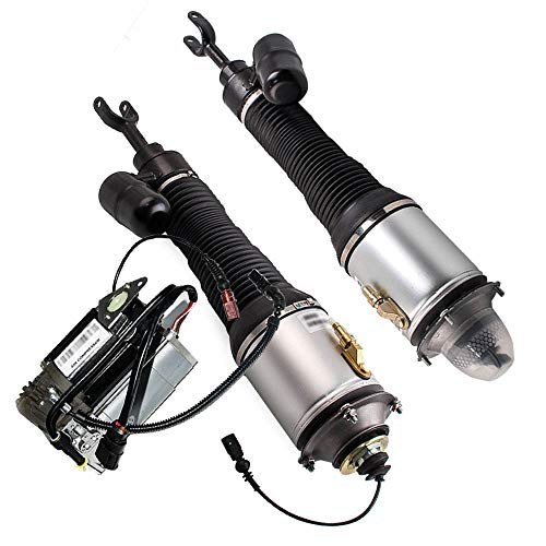 Pair Air Suspension Shock Struts + Air Compressor fit for Bentley Continental Flying Spur/GT 2003-2012 for VolksWagen Phaeton 2004-2006