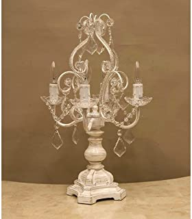 ガラスシャンデリア 4灯 テーブルランプ ケウェウス-2 Glass Chandelier Cepheus