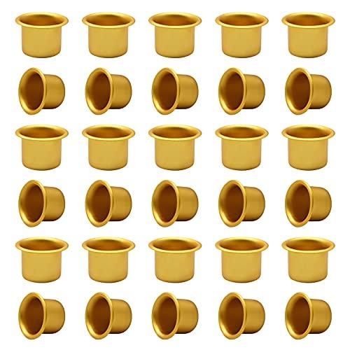 Candelabro Set Creative Mini portacandele Portacandele in Ottone Portacandele per Anello di Compleanno Compleanno e Candele per Albero, Diametro Interno ca. 11 mm, 30 Pezzi beccuccio per Candele
