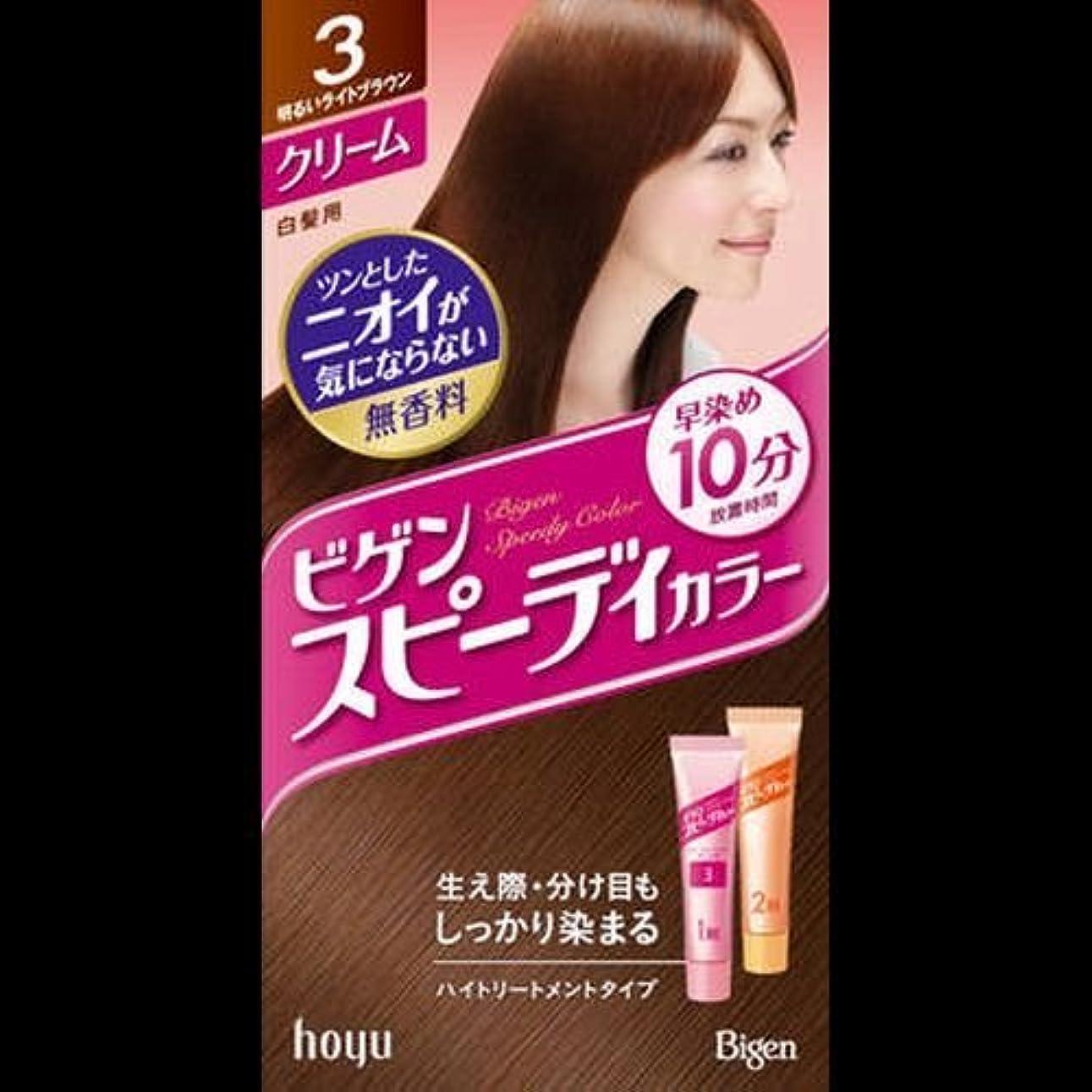 最小翻訳教義ビゲンスピィーディーカラー クリーム 3 明るいライトブラウン ×2セット