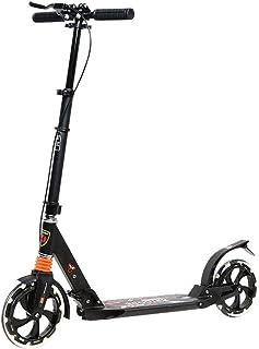 キックボード 8インチホイール ブレーキ2種付き 3段階高さ調整 携帯ストラップ付き サスペンション付き 折りたたみ式 スタンド付き 重量6kg 耐荷重80kg 対象年齢10歳以上 [並行輸入品]