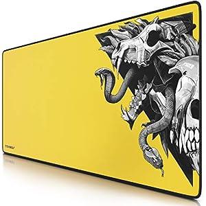 Prompt Design Yellow Wolf Skull