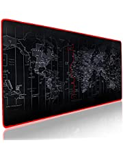 INOVATI Waterproof Gaming Mouse Pad XXL (900 X 400 X 3 mm) | extra thick and large mouse pad | world map designed extended mouse pad XXL | non slip rubber base | Perfectly stitched edges