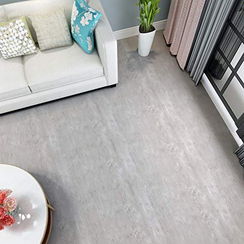 PVC Bodenbelag selbstklebend Bodenfliesen Abriebfester Vinyl Boden 3㎡/Rolle Holzoptik Klebefolie Matt Holz Folie aufkleber Dekorfolie (60x500 cm)