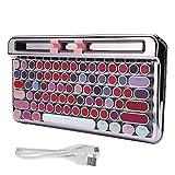 Tastiera da gioco wireless, macchina da scrivere retrò senza fili Bluetooth 4.0 3600mA in...