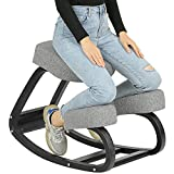 VIAGDO Ergonomic Kneeling Chair for Home Office Posture Corrective Angled Seat Orthopedic Rocking Kneeling Chairs Back & Neck Pain Relieving Rocking Kneeling Chair
