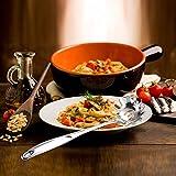 osmanthus Cucchiaio per Spaghetti, Servispaghetti in 304 Acciaio Inox, Mestolo per Spaghetti, Cucchiaio Servispaghetti per L'uso Quotidiano in Cucina, 33.5 cm Like-Minded