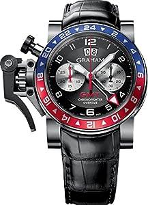 Graham Chronofighter OversizeBlack Dial Black Rubber Men's Watch 2OVHS.B39A.C11