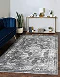 Unique Loom Sofia Collection Traditional Vintage Area Rug, 5' x 8', Gray/Light Gray