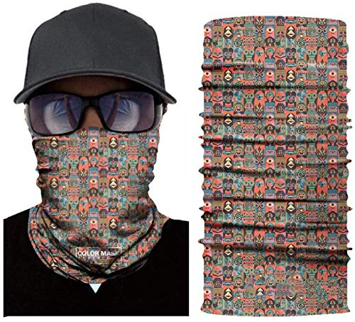 yumeng Bandana Headwear Elastic Scarf Personalised Face Covering Headband for Men Neck Gaiter Headwear for Dust Wind Magic Scarf( 2pcs )-Color 08 * 2